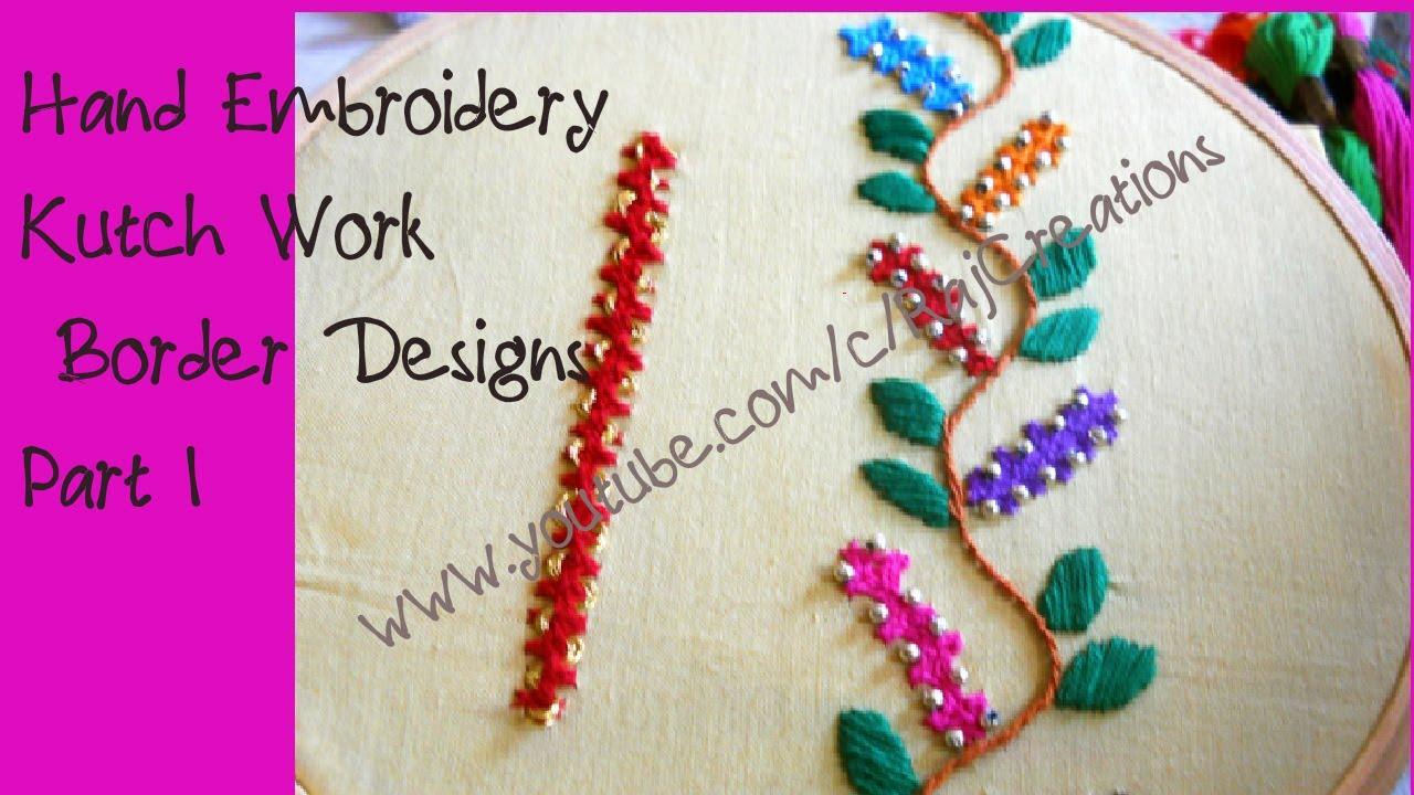 Hand Embroidery Kutch Work Border Designs Part I Kutch Work
