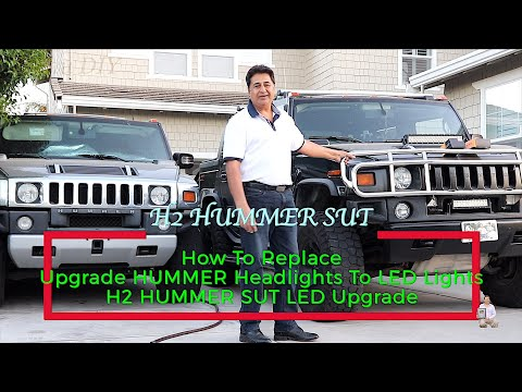 How To Replace | Upgrade HUMMER Headlights To LED Lights | 2007 HUMMER SUT | H2T LED Upgrade