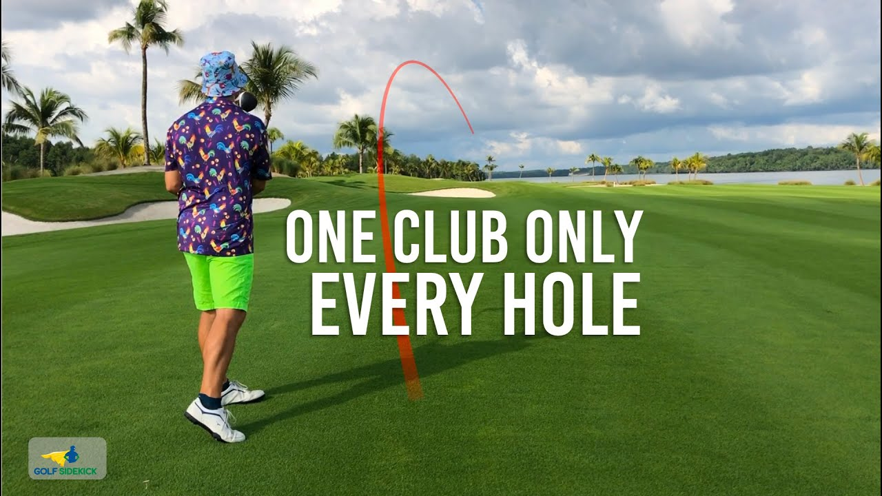How To Plan Each Hole - Easy Course Management with only one club on each hole