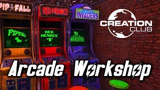 Fallout 4 Arcade Workshop Pack Creation Club Mod Review!