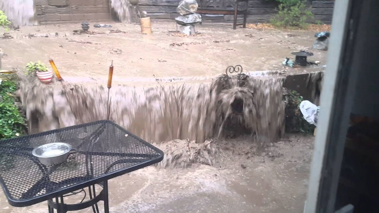 southern california backyard flooding youtube