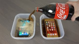 Samsung Galaxy S7 Edge vs. iPhone 6S Plus Coca-Cola Freeze Test 9 Hours! Will It Survive ? thumbnail