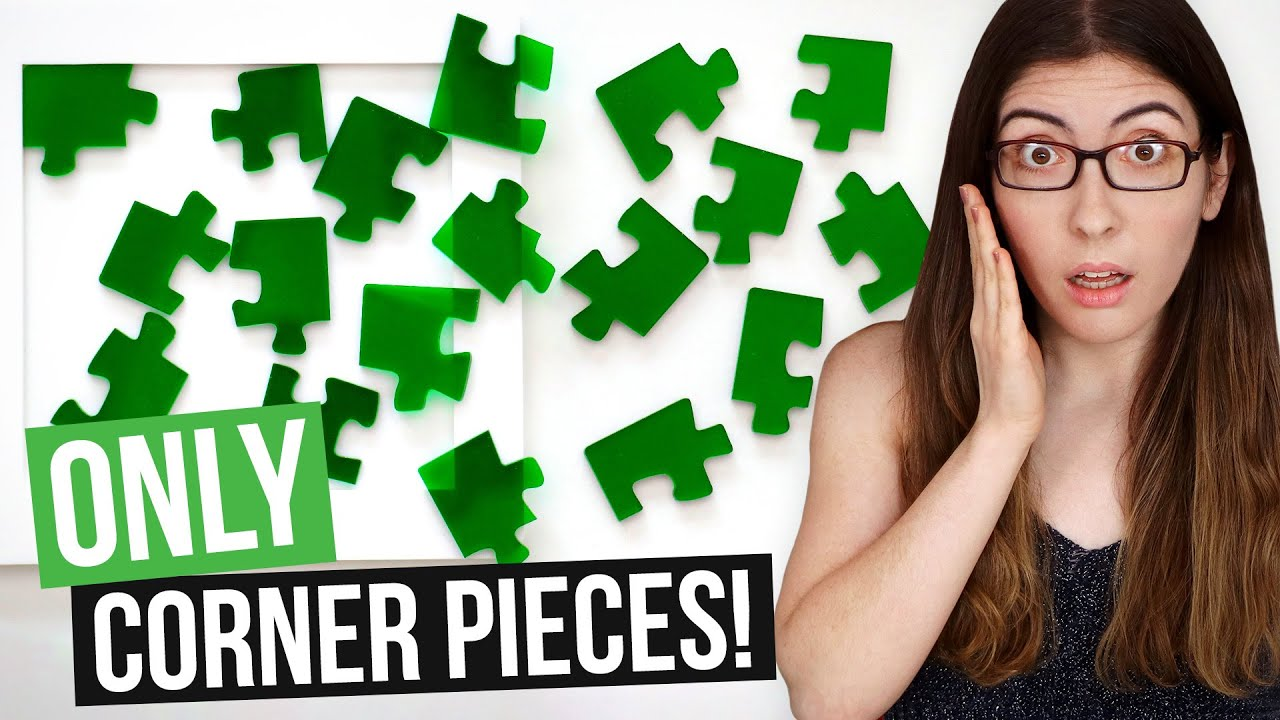 A jigsaw puzzle where EVERY PIECE is a CORNER