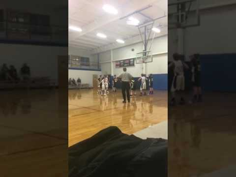 Kid does celebratory splits during game at Kerr Vance academy in Henderson NC