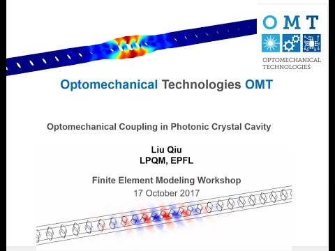 COMSOL simulation tutorial: Optomechanical Coupling in Photonic Crystal Cavities