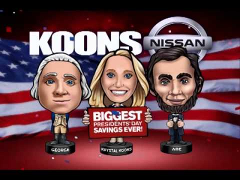 Koons Falls Church Nissan Presidentu0027s Day New Car TV Commercial
