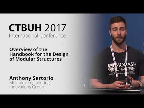 Ctbuh 2017 Australia Conference Anthony Sertorio Handbook For The Design Of Modular Structures Youtube