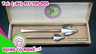 Hướng dẫn vẽ sốt trang trí món ăn bằng Deco Spoon Rosa
