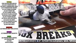 BREAK 20 21 2020 P SPORTSCARDS24 S PREMIUM AUTOGRAPHED FOOTBALL MINI HELMET LIVE BOX BREAK
