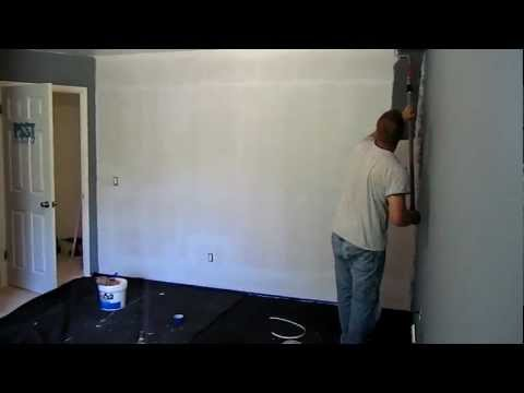 Painting our Little Boy's Nursery Dark Grey and Slate Blue - Part 2