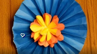 beautifull flower craft make with color paper