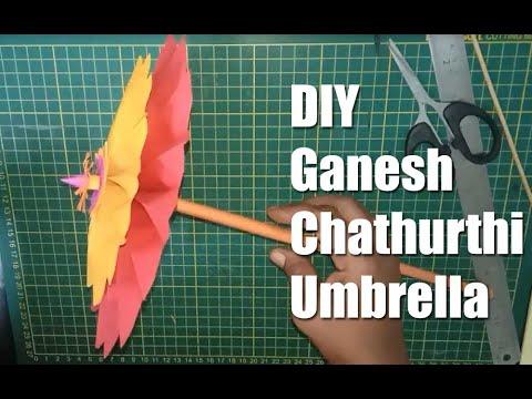 Umbrella for Ganesh Chathurthi / DIY / Paper Craft