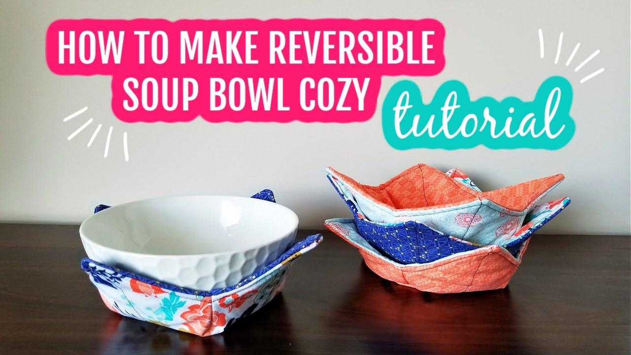 Reversible Soup Bowl Cozy