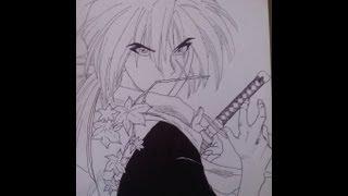 How to draw Kenshin Himura.
