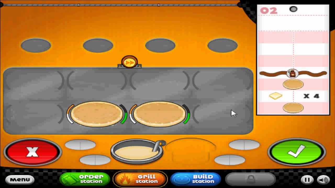 Let 39 s play 39 39 papa 39 s pancakeria 39 39 day 1 starting youtube - Jeux de cuisine papa louie pancakeria ...