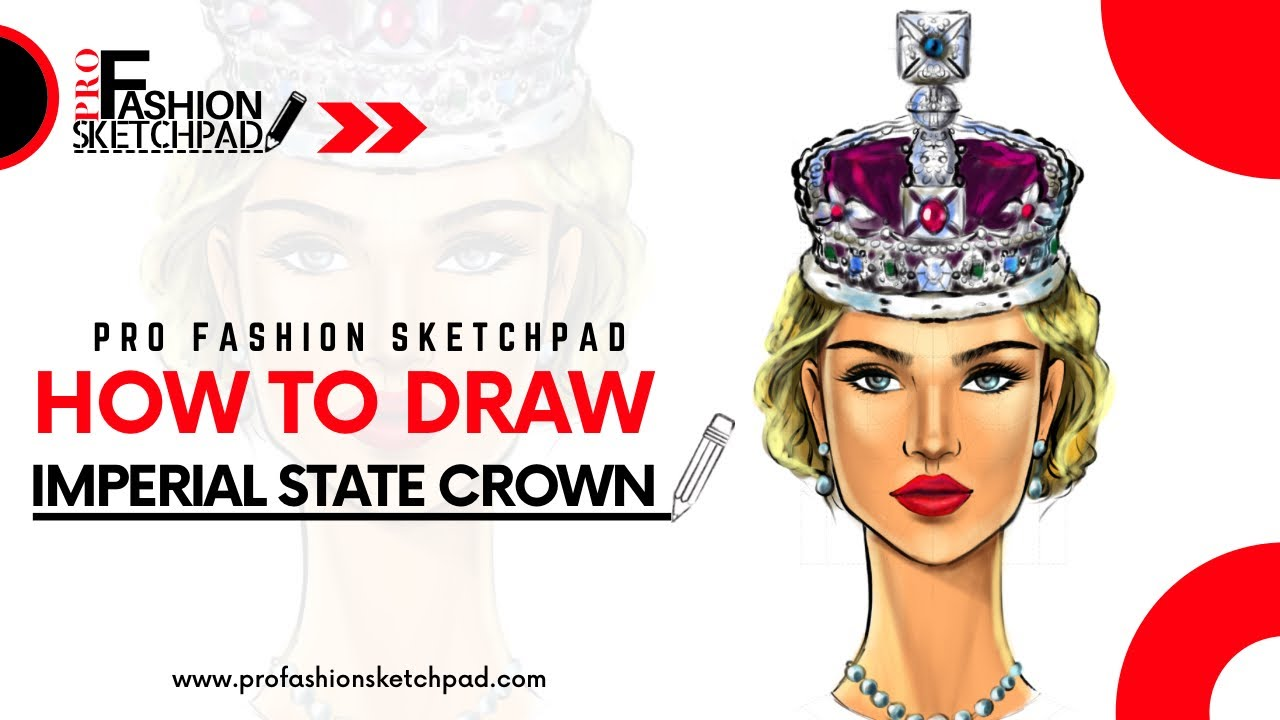 How to Draw Imperial State Crown with Pro Fashion Sketchpad Templates