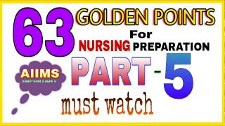 Nursing exam preparation I 63 golden points part #5 I staff nurse exam
