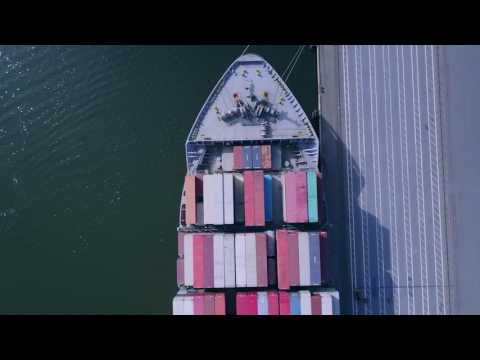 Drone Oakland, California: Port of Oakland (DJI Mavic Pro)