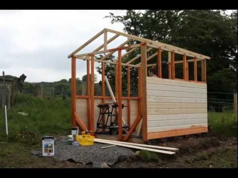 timelapse of building a combo garden shedgreenhouse