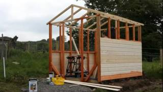 Timelapse Of Building A Combo Garden Shed/greenhouse