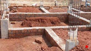 40 × 40 West face house plan at plinth level
