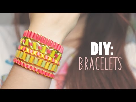 DIY: Easy Bracelets using Drinking Straws - Recycling Project
