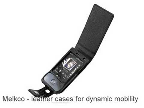 Melkco Tasche Leder Etui cuir ~HTC Touch Diamond/HTC Diamond 100/HTC P3700/HTC P3701/HTC P3702 Victor/T-Mobile MDA Compact IV Flip Type (Snake Print Pattern - Black)