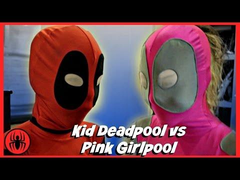 Kid Deadpool vs Pink Girlpool Superheroes fun in real life comic | Meet pink girlpool Superhero Kids