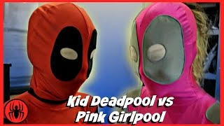 Kid Deadpool vs Pink Girlpool Superheroes fun in real life comic | Meet pink girlpool Superhero Kids