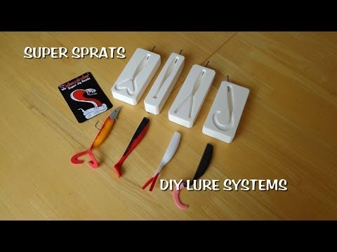 Super Sprats and Sidewinder eels jigheads DIY lure making system explained.
