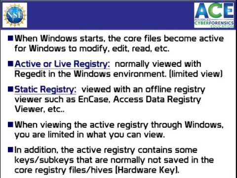 Windows Registry 1 of 3