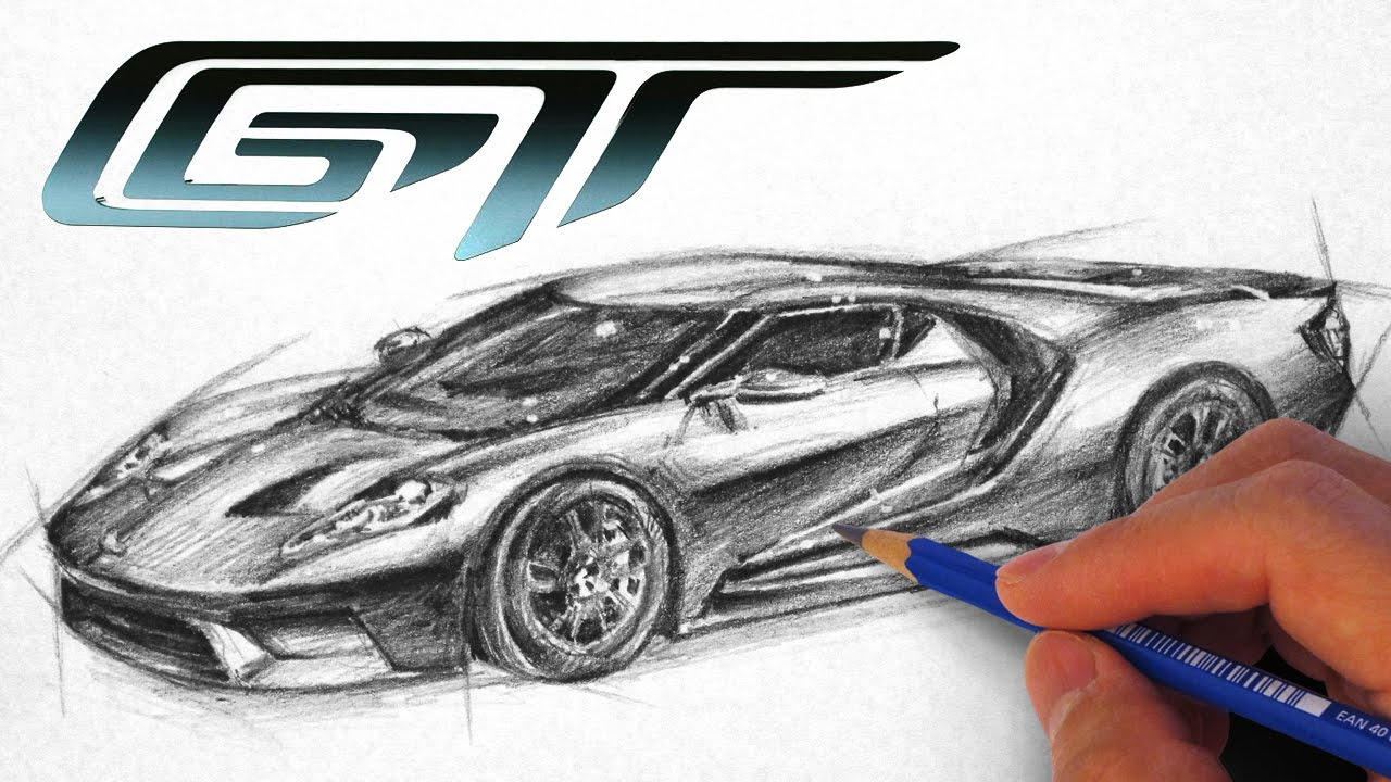 How To Draw The Ford Gt