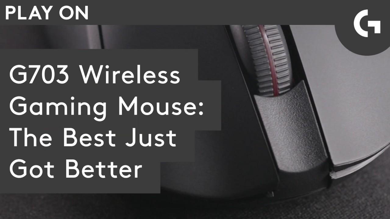 G703 LIGHTSPEED Wireless Gaming Mouse w/ HERO Sensor: Play Advanced