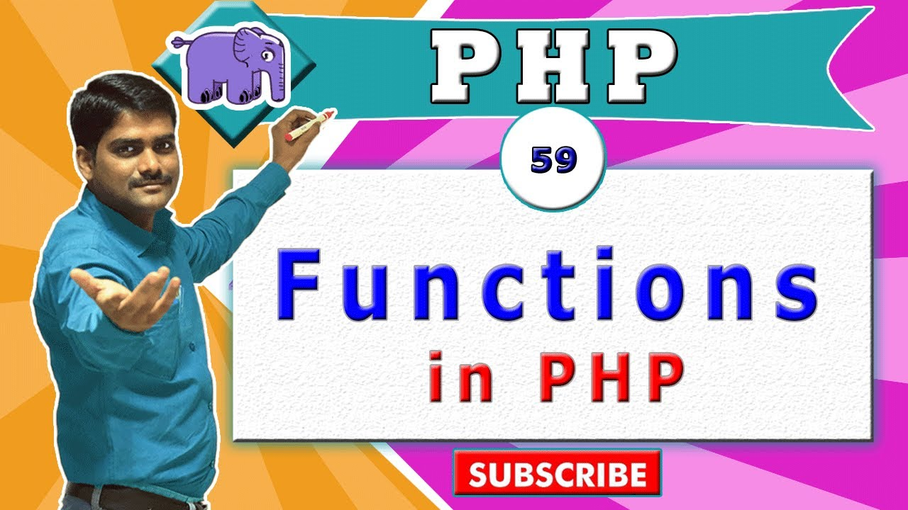 PHP video tutorial 59 - PHP Functions in PHP