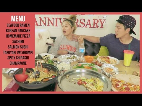 300k of LOVE, 3years in relationship , 1year of Youtube.. THANK YOU ALL! | MUKBANG
