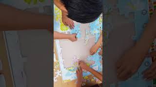 와이드맵 세계지도 대형 직소 퍼즐 맞추기 2