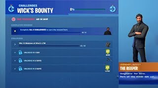 "*NEW* How to get FREE ""WICKS BOUNTY REWARDS"" in Fortnite! WICKS BOUNTY CHALLENGES (FREE REWARDS)"
