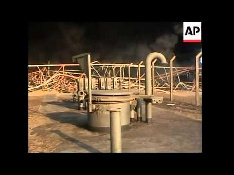 Oil pipeline on fire after blast