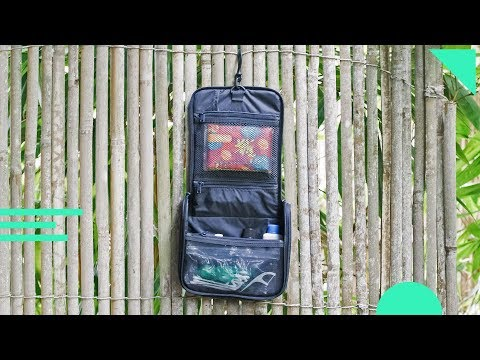 Muji Hanging Travel Case Review | Organized Travel Toiletry Bag & Dopp Kit | Mesh, Nylon, Polyester