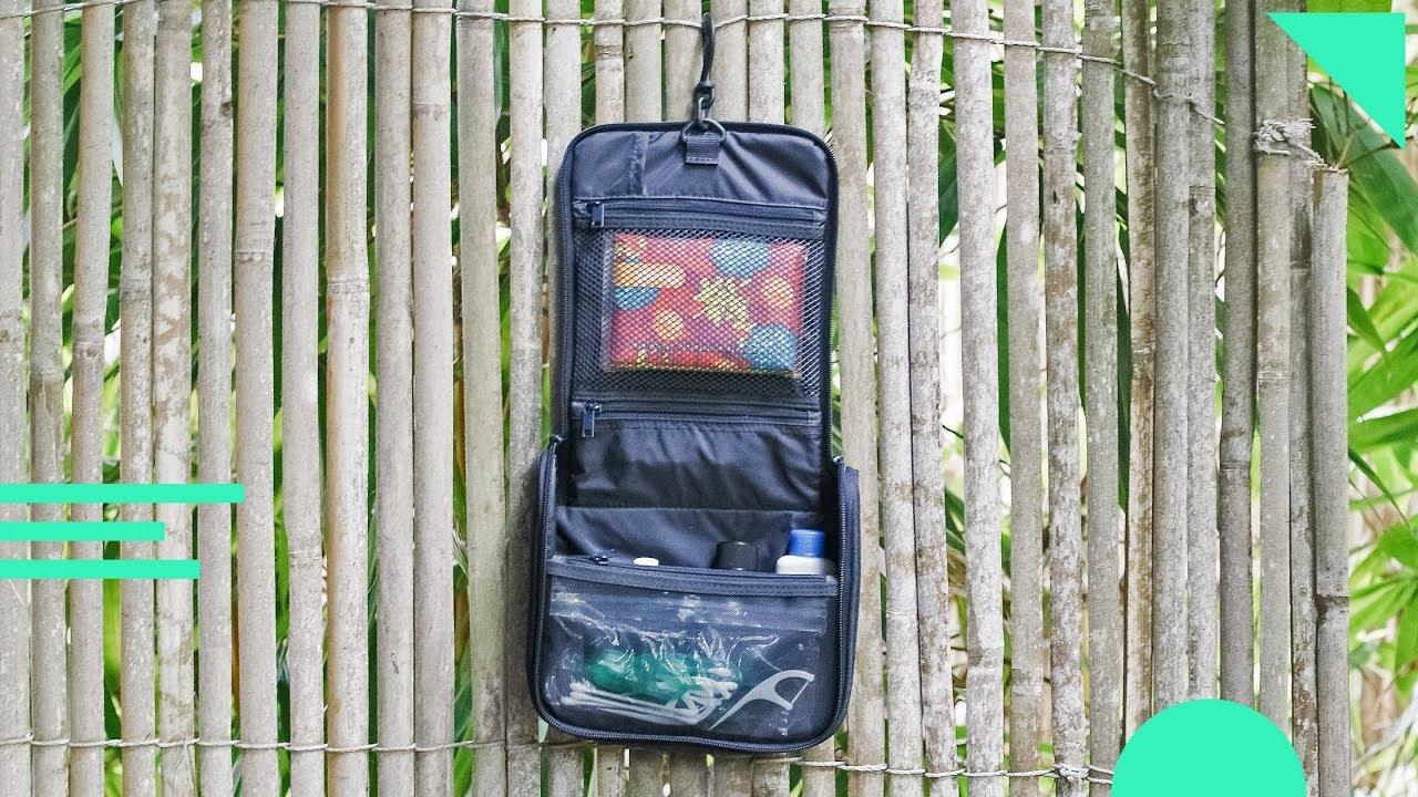 17547a31705 Muji Hanging Travel Case Review   Organized Travel Toiletry Bag   Dopp Kit    Mesh, Nylon, Polyester