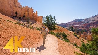 Amazing Bryce Canyon Virtual Hike - 4K Footage for Fitness Equipment/Training Simulators - 1.5 HRS