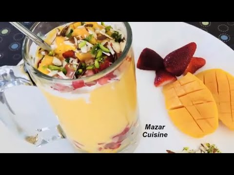 MANGO DRINK , MANGO SHAKE RECIPE آم جوس