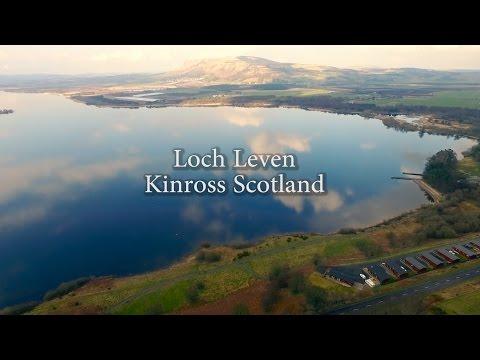Loch Leven Kinross Scotland Phantom 3 Pro Drone Flight Castle Harbour
