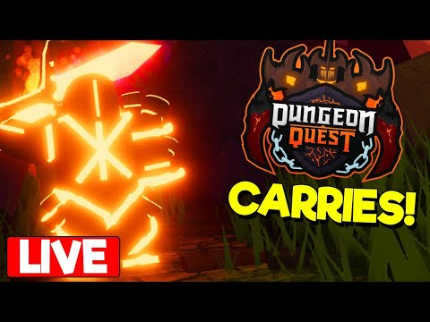 🤪-volcanic-chambers-grind---dungeon-quest---roblox---free-carries,-and-giveaways