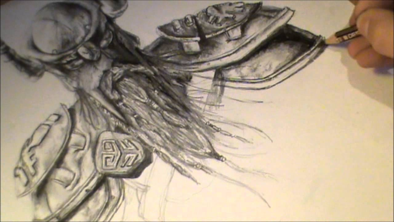Elder Scrolls Online Speed Drawing Skyrim Music 720p