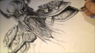 Elder Scrolls online speed drawing (skyrim music) - (720p HD)