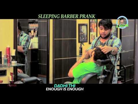 Sleeping Barber Funny Prank  By Nadir Ali In  P4 Pakao