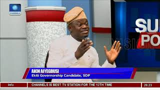 Ekiti Gov'ship Race: I Can Never Work With Fayose, Fayemi - SDP Aspirant |Politics Today|