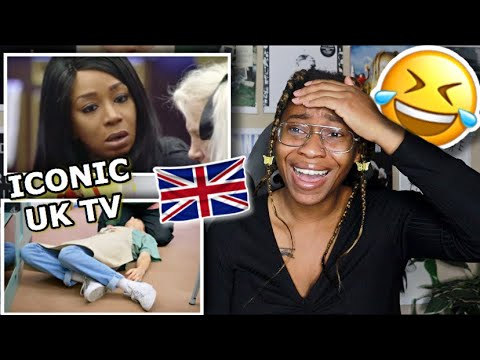 AMERICAN REACTS TO MOST ICONIC BRITISH TV MOMENTS #5! 🤣 | Favour