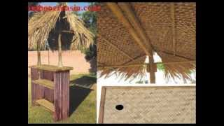 A Tiki-Bar-Bamboo Bar and Huts at best deals on Summer sale-Buy 100%Bamboo Tiki bar set w/2stool